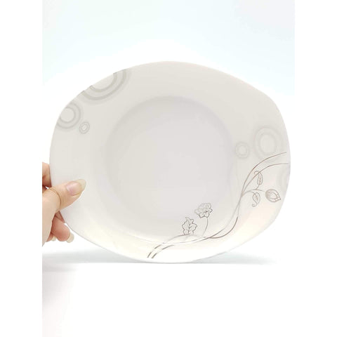TPM08B/09B -  Silver Vines Round Rectangular Plate 8 - 9 Inches - New Eastland Pty Ltd - Asian food wholesalers
