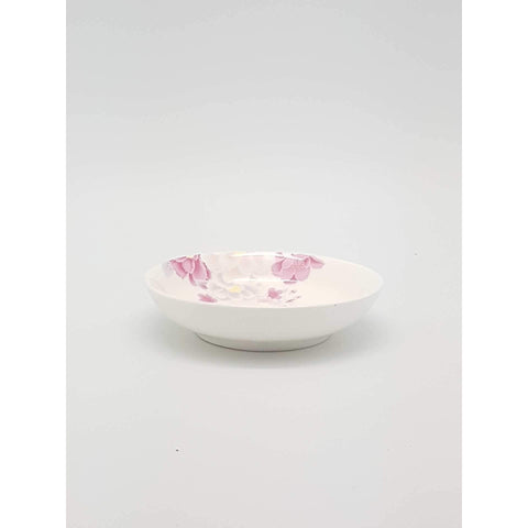 TPO04-  Pink Rose Ceramic Sauce Plate - New Eastland Pty Ltd - Asian food wholesalers