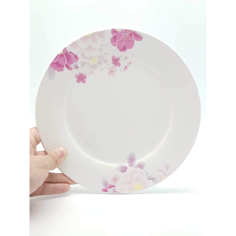 TPO07/10 -  Pink Rose Ceramic Plate 7 - 10 Inches - New Eastland Pty Ltd - Asian food wholesalers