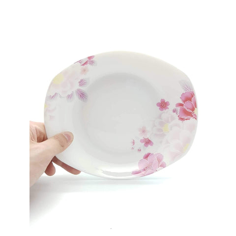 TPO08B/09B -  Pink Rose Ceramic Plate 8 - 9 Inches - New Eastland Pty Ltd - Asian food wholesalers