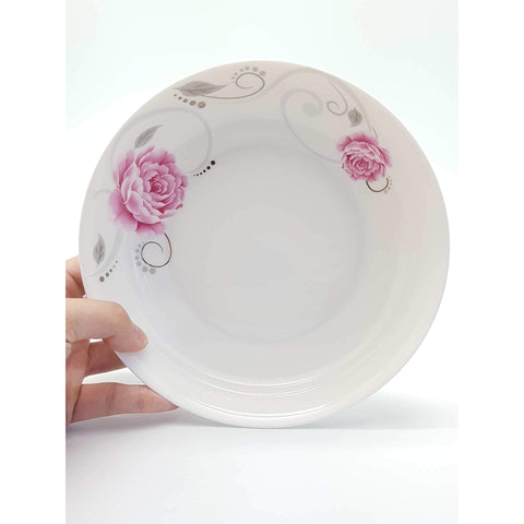 TPR07F/08F -  Pink Rose Ceramic Plate 7 -8 Inches - New Eastland Pty Ltd - Asian food wholesalers