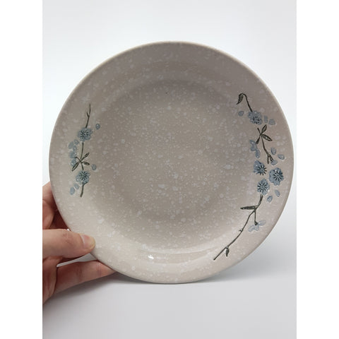TPS08D -  White snow with Blue flowers  plate ~8.5 Inches - 6 pcs  / 1 Box - New Eastland Pty Ltd - Asian food wholesalers