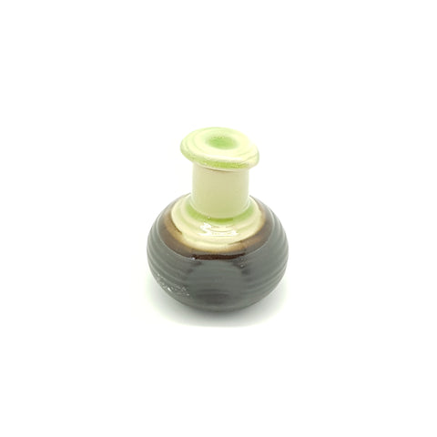 TT11S -  Ceramic Green Leaf Soy Sauce Container - 4 pcs  / 1 Box - New Eastland Pty Ltd - Asian food wholesalers