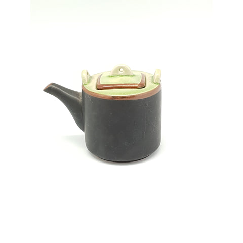 TT11T.731  -  Ceramic Green Leaf Square Teapot with Lid - 2 pcs  / 1 Box - New Eastland Pty Ltd - Asian food wholesalers
