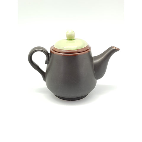 TT11TP -  Ceramic Green Leaf Rounded Bottom Teapot with Lid - 4 pcs  / 1 Box - New Eastland Pty Ltd - Asian food wholesalers