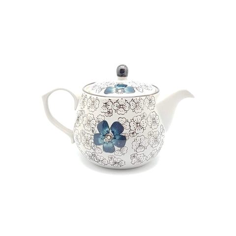 TT15T - Green Ceramics with Blue Flower Tea pot - New Eastland Pty Ltd - Asian food wholesalers