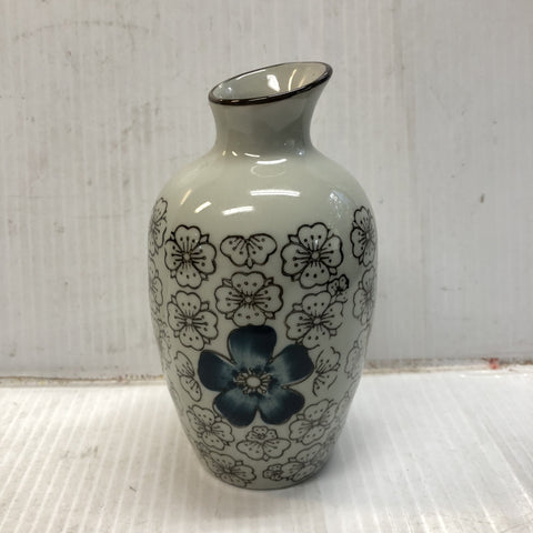 TT15WA- Green Ceramics with Blue Flower Sake Bottle - New Eastland Pty Ltd - Asian food wholesalers