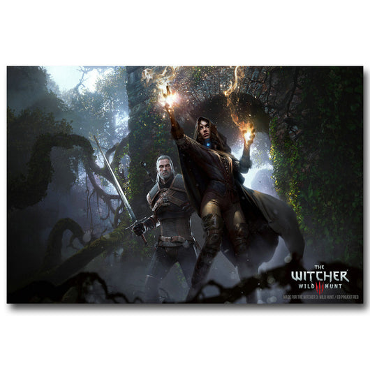 The Witcher 3 Wild Hunt Art Silk Fabric Poster Print