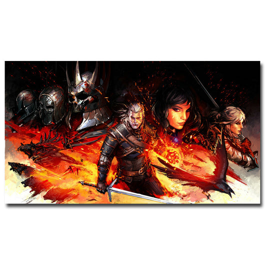 Geralt - The Witcher 3 Wild Hunt Game Art Silk Fabric Poster Print