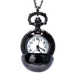 Black Smooth Ball Pocket Watch