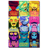 One Piece Silk Fabric Poster Print