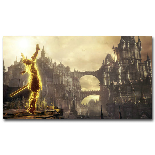 Dark Souls Silk Fabric Poster Print