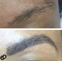 lashx brow extensions before and after