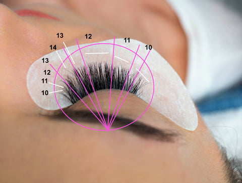 Reverse Cat Eye Lash Map