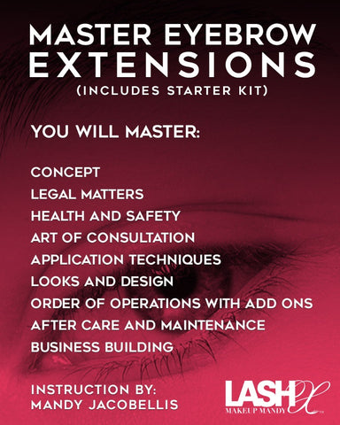 Brow extension master class