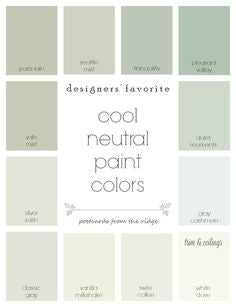 color swatches spa design