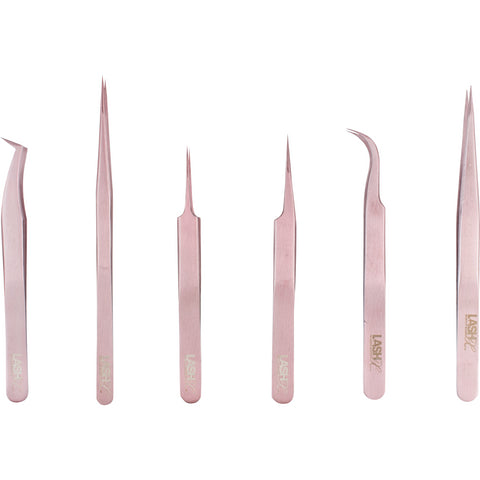 Lash Extension Straight Tweezer - Rose Gold - lashx.pro Healthier Professional lash extension products