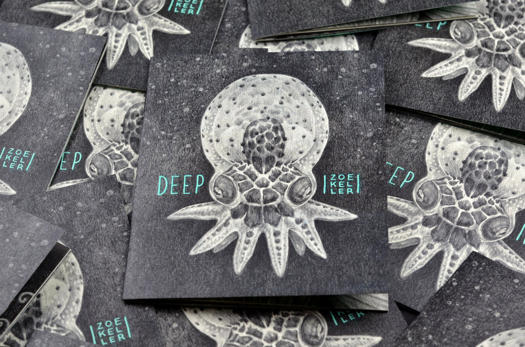 Zoe Keller Deep zine covers