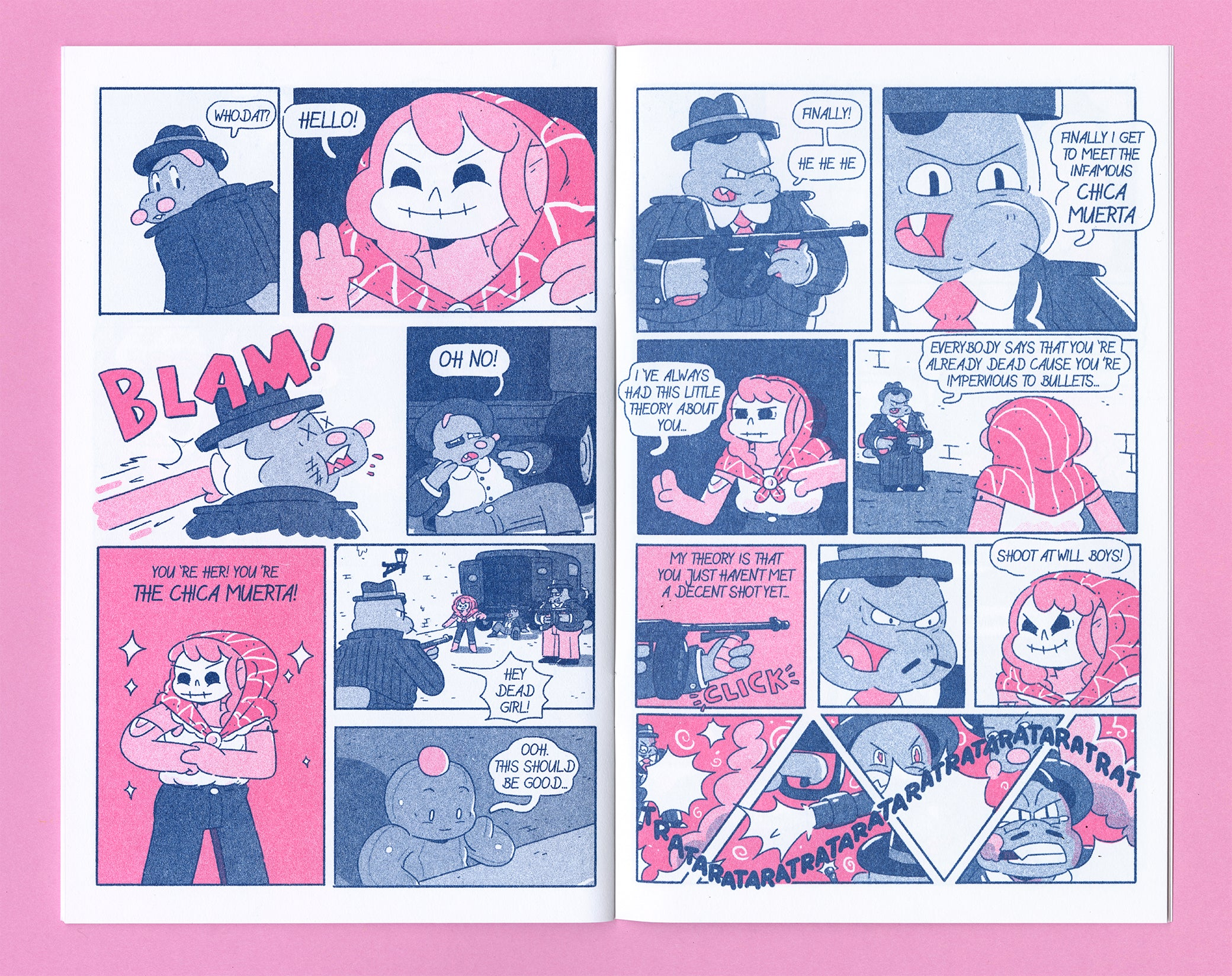 The Big Night Riso comic interior 2