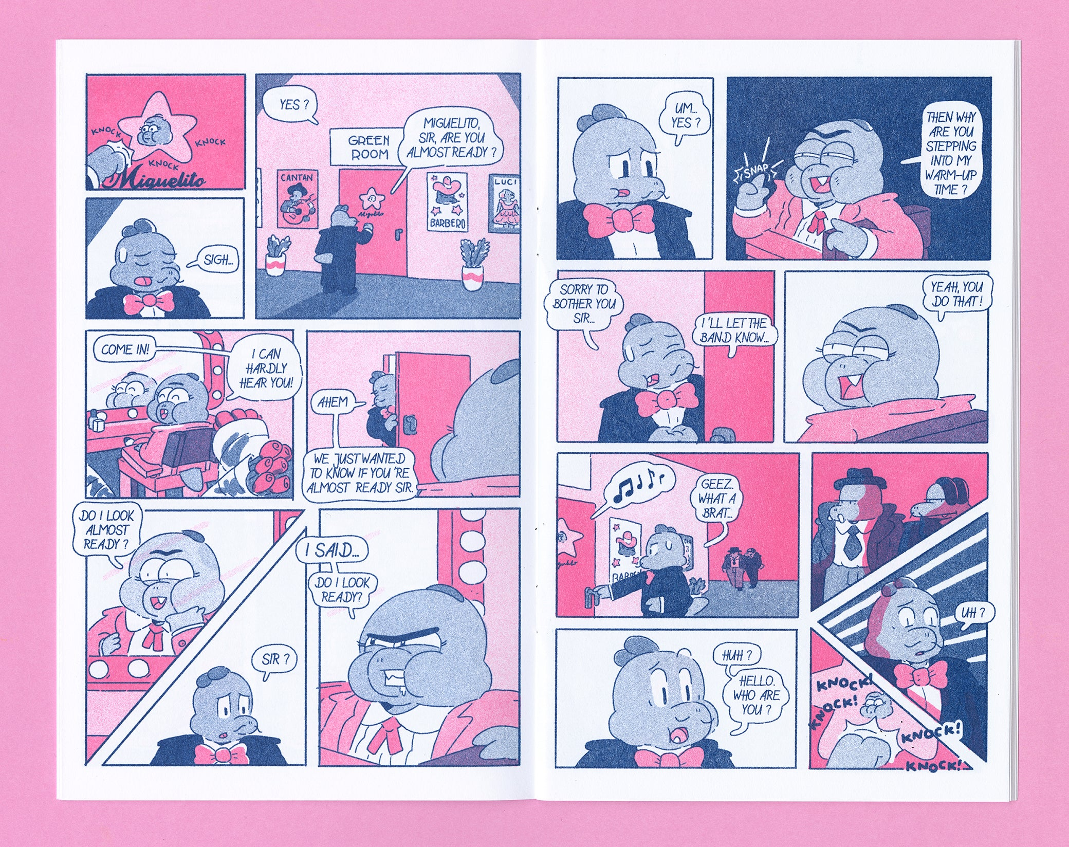 The Big Night Riso comic interior 1