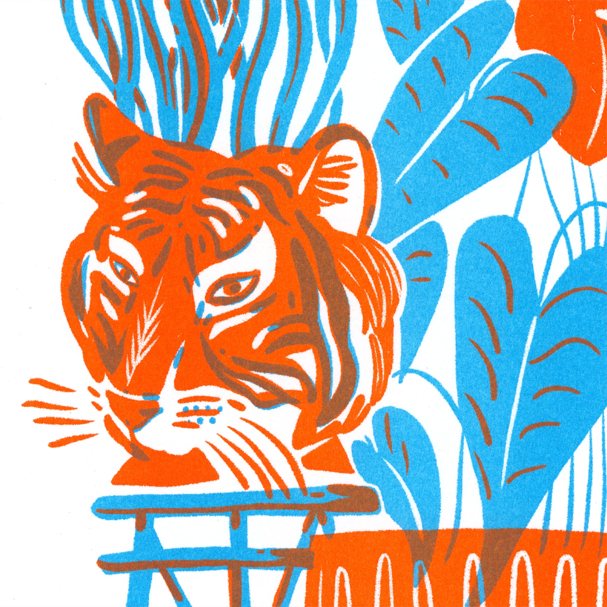 Houseplant Jungle Riso close up