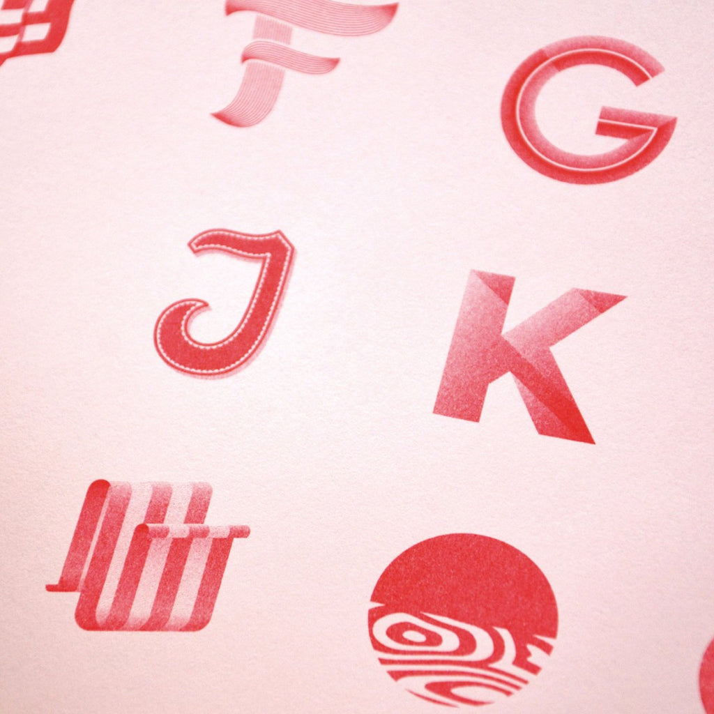 The alphabet riso poster detail