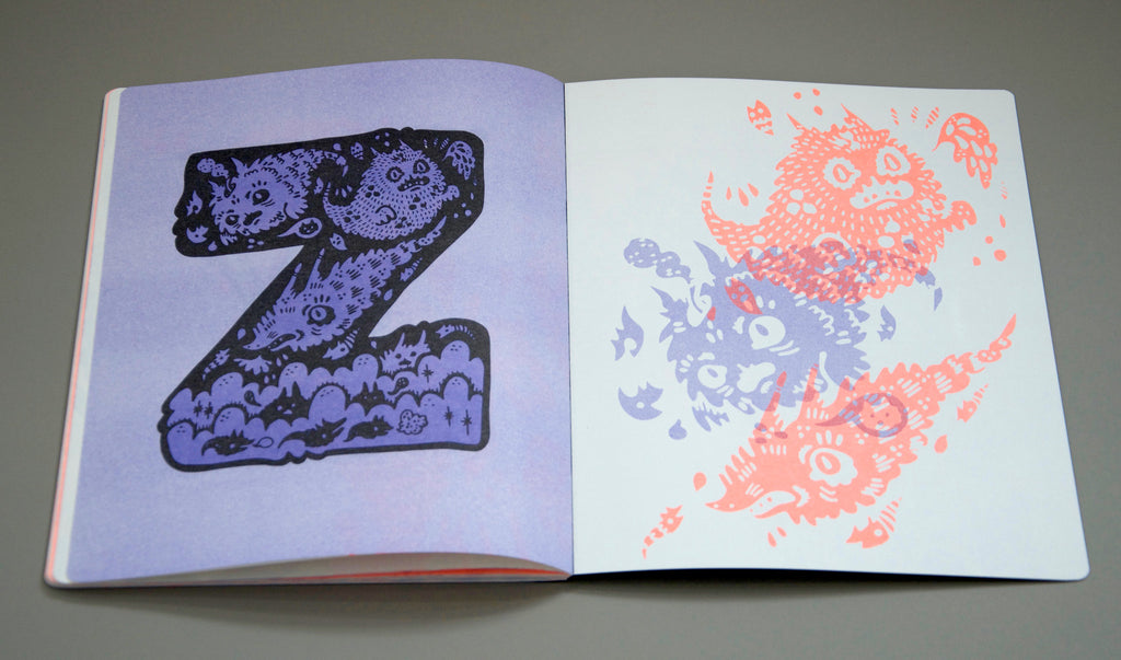 Ghost Alphabet Haypeep Book open page z