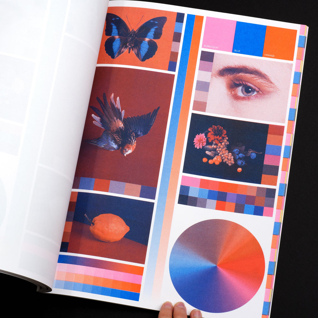 Color Library: Risographic Printing Guide Book Cover Interior Page Detail