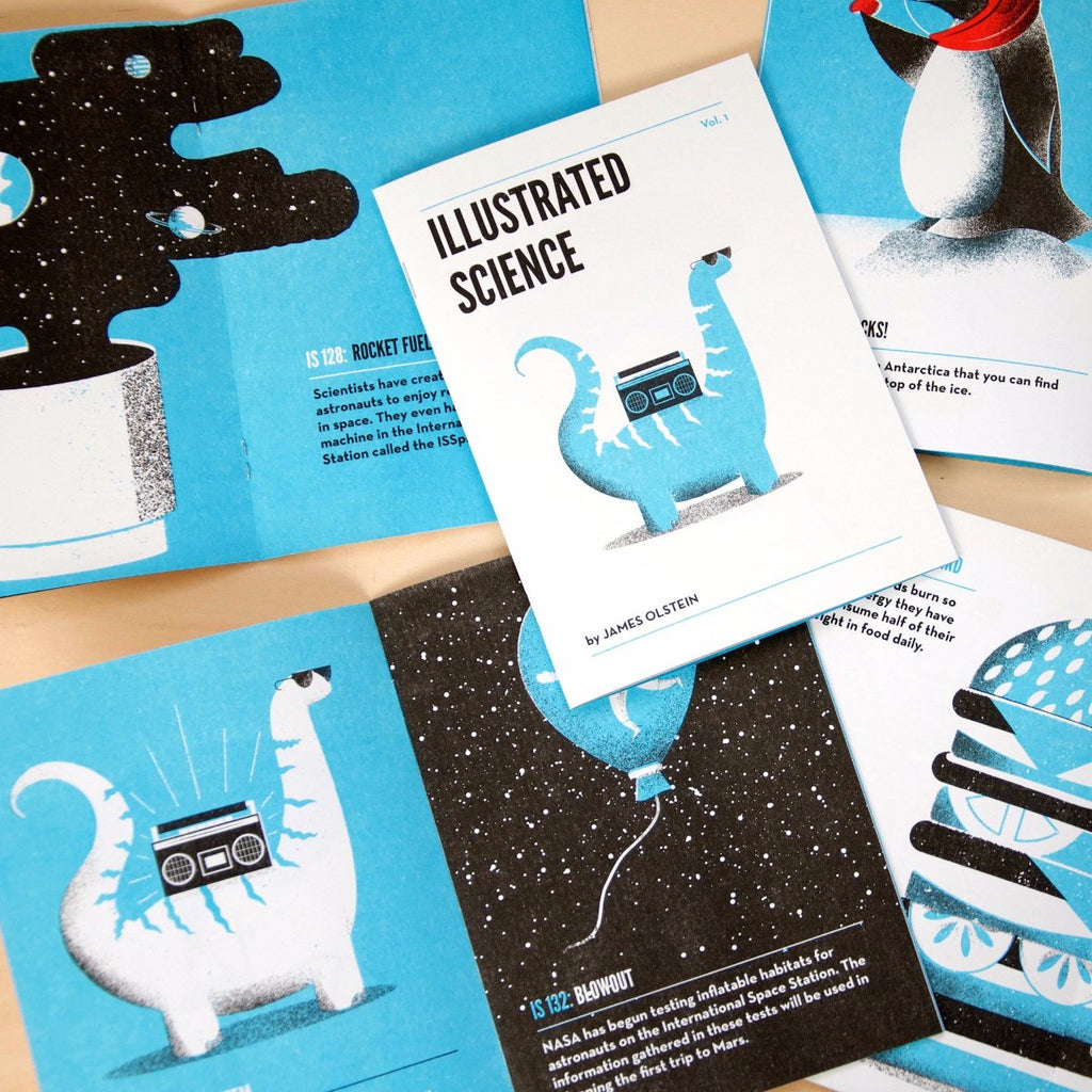 Various illustrated science zines