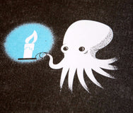 Illustrated Science riso zine octopus close up