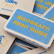 Risograph print guide cover