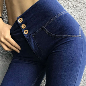 High-Rise Push Up Jeans