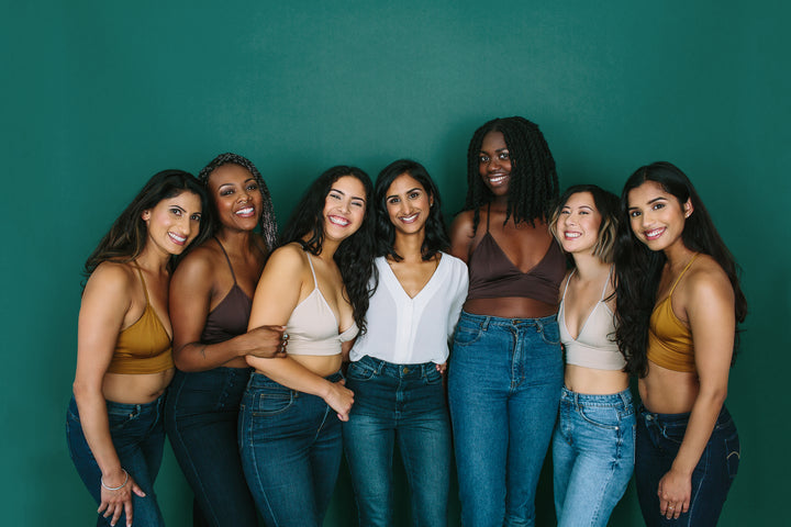Founder Shobha Philips with Proclaim Models in Nude Bralettes