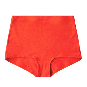 Proclaim Color Pop Collection Organic Cotton and Hemp  High Rise Brief Underwear in Poppy