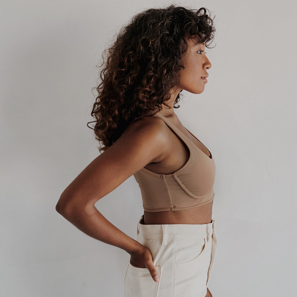 Proclaim Maya Nude Ethical Fashion Wirefree Bralette Side View