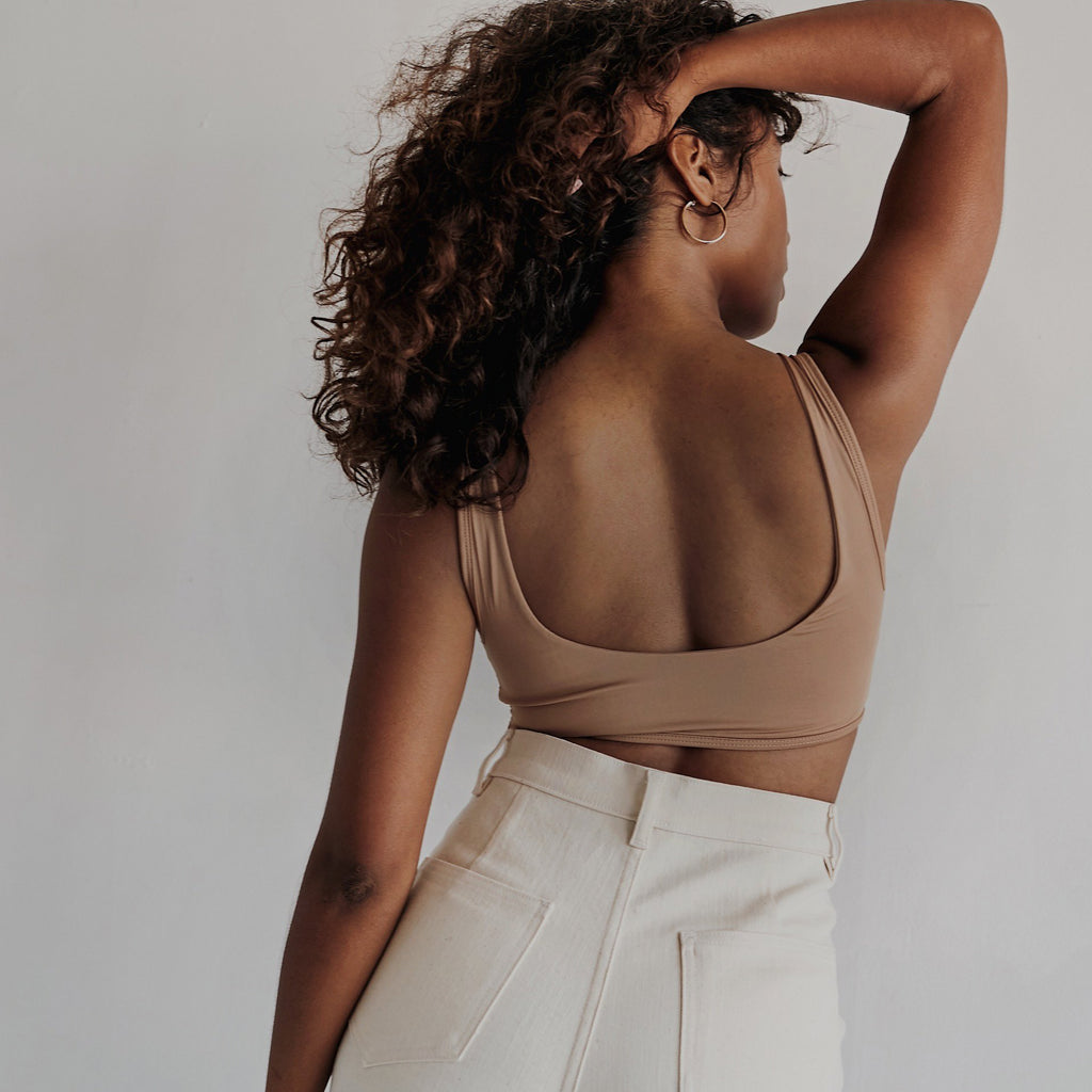 Proclaim Maya Nude Ethical Fashion Wirefree Bralette Back View