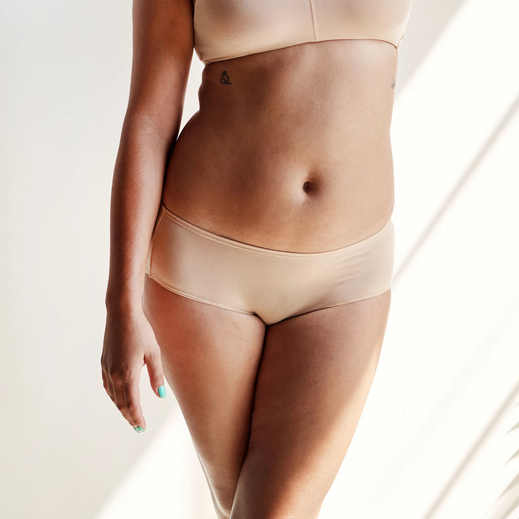 PRE-ORDER Tencel Mid-Rise Brief in Ada Nude