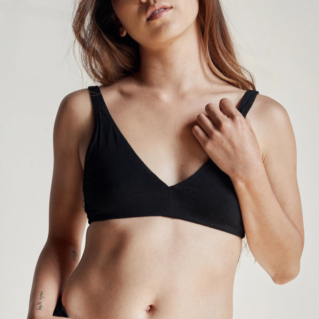 black proclaim ethical sustainable underwear fashion tencel bra made in los angeles sizes s m l xl x2 x3