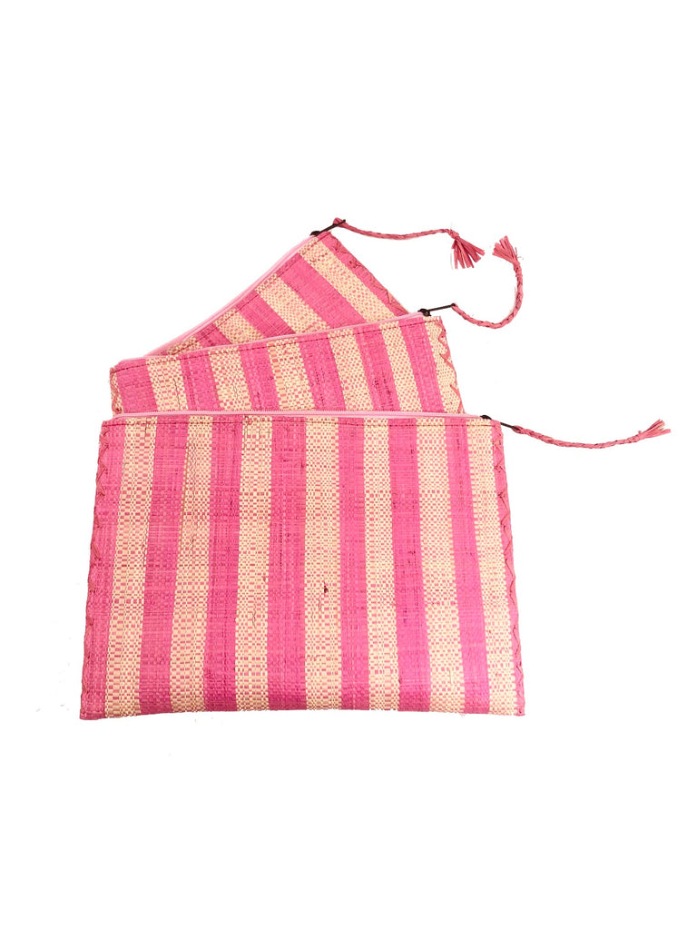 Stripe Clutch Pink