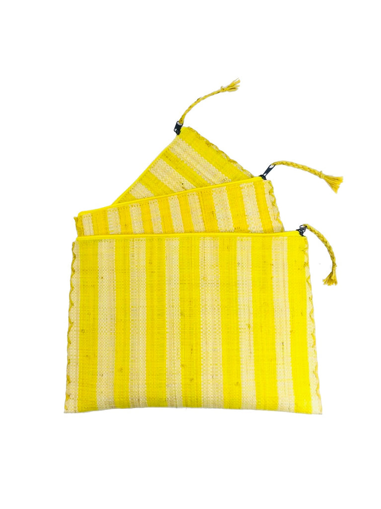 Clutch Set of 3- Yellow Stripes - Shebobo
