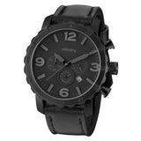 INFANTRY BLACK Q DARK KNIGHT with BLACK LEATHER STRAP (FS-007-B-Q)