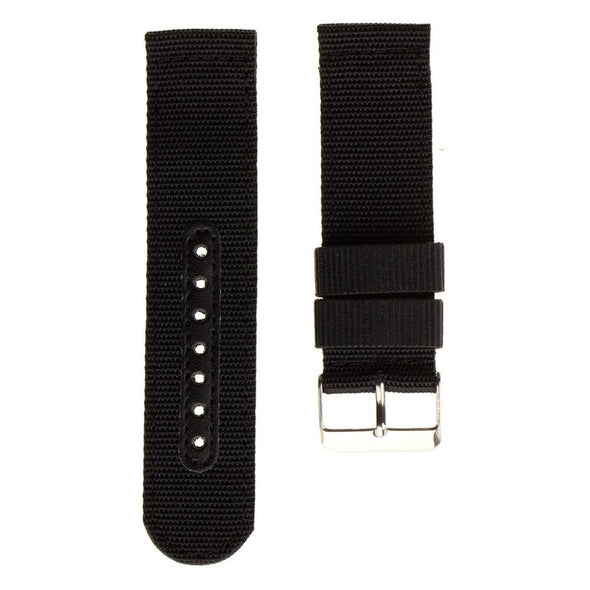 INFANTRY Military Army Black Nylon Fabric Canvas Watch Band Strap 22mm Strong Heavy Duty