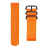 INFANTRY ORANGE NYLON STRAP with 3 BLACK RING (NYS-3BR-O)