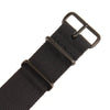 INFANTRY BLACK 22MM NYLON STRAP with BLACK RING (WS-NATO-BB-22)