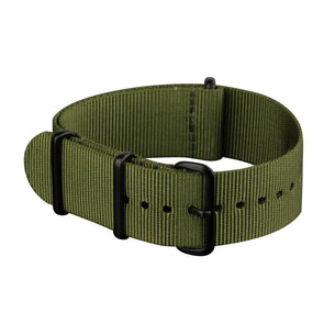 INFANTRY GREEN NYLON STRAP with BLACK RING (WS-NATO-BG)