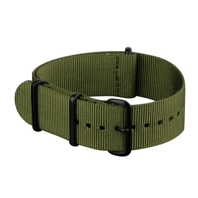 INFANTRY GREEN 22MM NYLON STRAP with BLACK RING (WS-NATO-BG-22)