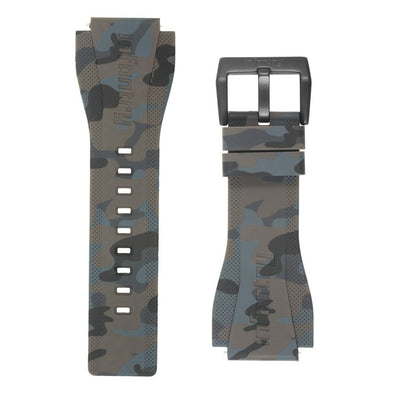 INFANTRY REVOLUTION CAMO GREY 24MM SILICONE STRAP  (WS-R-CAMOGREY-SET)