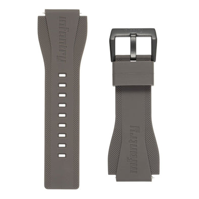 INFANTRY REVOLUTION GREY 24MM SILICONE STRAP  (WS-R-GRY-SET)