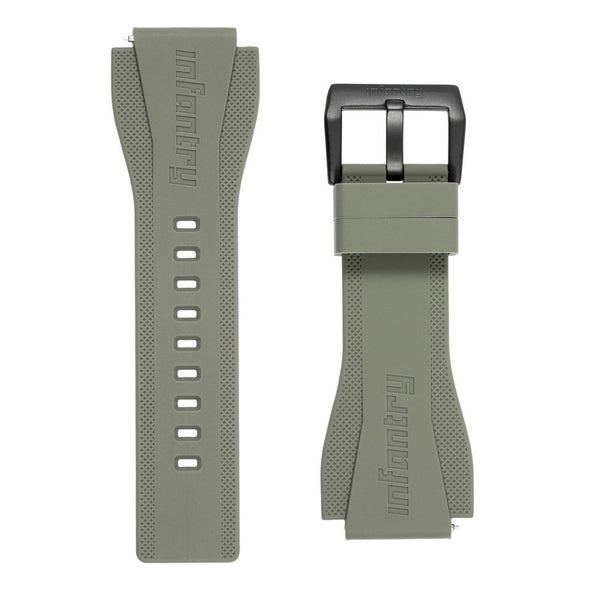 INFANTRY REVOLUTION GREEN 24MM SILICONE STRAP  (WS-R-GRN-SET)