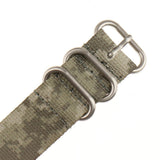 INFANTRY ACU CAMO 22MM ZULU NYLON STRAP with SILVER RING (WS-ZULU-ACU-22)